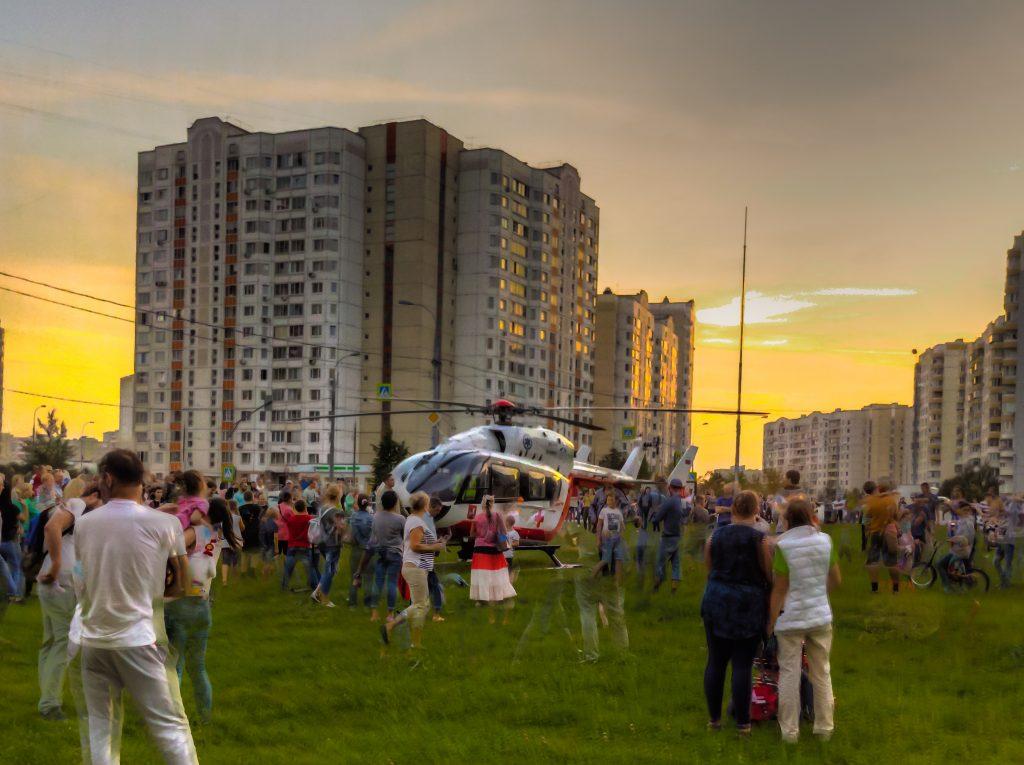 Вертолет в в южном бутово